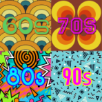 Rock and Roll Bingo Decades Pack MINI- 4 Games x 50 Tickets