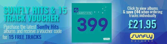 Sunfly Hits 399 & 15 track voucher code