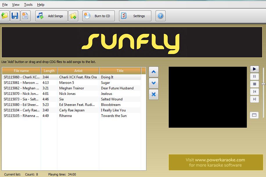CDG Burner Screenshot